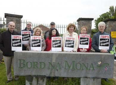 The picket at Bord na Móna earlier this year.