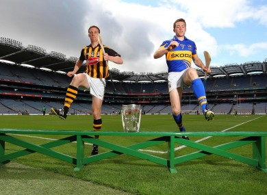 Kilkenny's Brian Hogan and Padraic Maher of Tipperary.