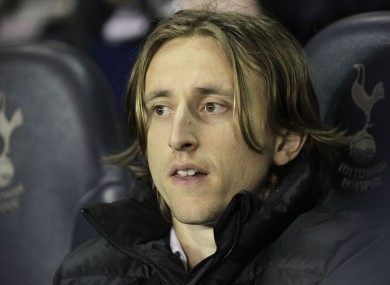 Luka Modric: on the move at last.
