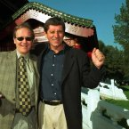 With the Irish Times Conor Clery in Beijing in 1998.