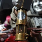 Scottish Paralympic flame on display at the Edinburgh Fringe Festival. (PA)