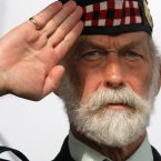 Britain's Prince Michael of Kent, salutes during the commemorations to honour Allied soldiers killed 70-years ago in a failed World War II invasion, in Dieppe, northern France. Some 1,400 soldiers were killed in