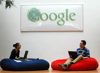 Staff in Google's Dublin HQ 