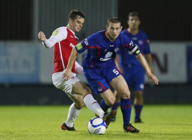 Greg Bolger and Danny Ventre of Sligo Rovers.