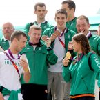 Ireland's Olympic medalists John Joe Nevin, Paddy Barnes, Michael Conlan, Cian O'Connor and Katie Taylor.