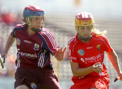 Cork's Katie Buckley and Sandra Tannian of Galway