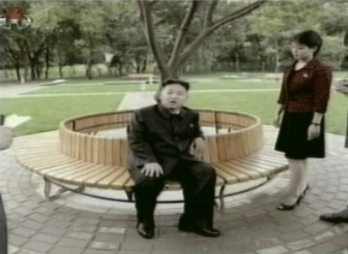 Kim Jong Un with his wife 