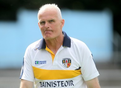 Liam Bradley at Antrim's All-Ireland qualifier loss to Tipperary in July.