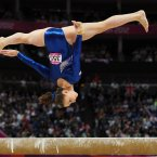 Great Britain's Hannah Whelan competes on the beam during the Artistic Gymnastic Women's All Round Final at the North Greenwich Arena, London, on the sixth day of the London 2012 Olympics.