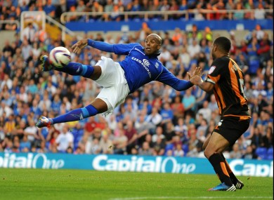 Birmingham City's Marlon King goes for a spectacular effort in last night' Capital One Cup first round meeting with Barnet.