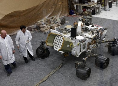 The Mars Curiosity rover. Haters gonna hate.