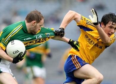 Kerry's Niall Sheehy and Cathal Kenny of Roscommon.