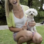 Pippa O'Connor is impressed with her smile - the dog less so, sadly.