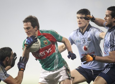 Mayo's Alan Dillon against Dublin in a league meeting earlier this year.