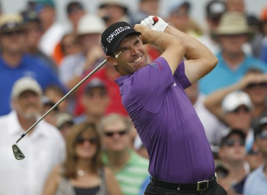 Padraig Harrington dropped back after a round of 76.