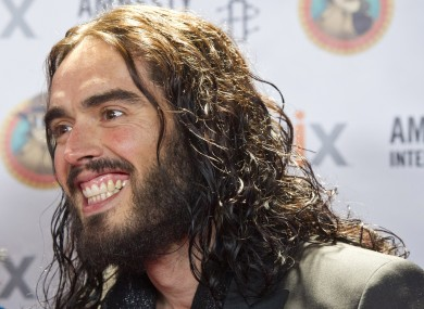 Russell Brand, immediately after seeing a woman perched on a taxi