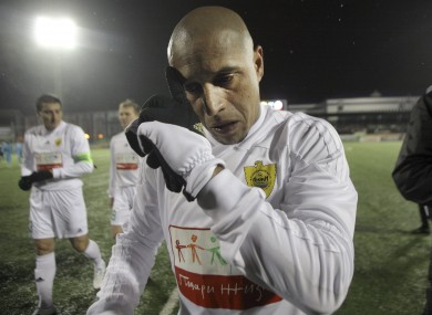 Roberto Carlos ended his career with Russian side Anzhi Makhachkala.