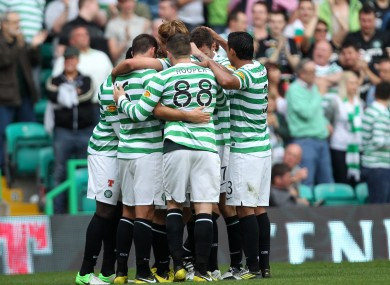 Celtic players celebrate (file photo).