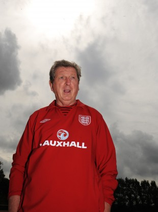 England manager Roy Hodgson during the training session at London Colney Training Ground this week.