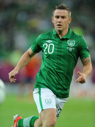 Cox in action for Ireland.