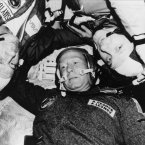 Astronaut Donald K Slayton, cosmonaut Aleksey A. Leonov and astronaut Thomas P Stafford are photographed in the Soviet Soyuz Orbital Module during the joint-US-USSR Apollo-Soyuz (ASTP) test project docking in Earth orbit mission, July 1975. (AP Photo)