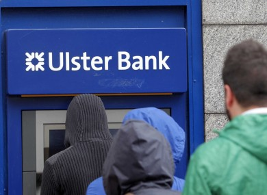 File photo of customers queuing for an Ulster Bank ATM.