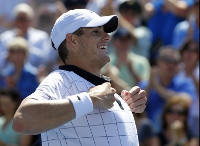John Isner performs the