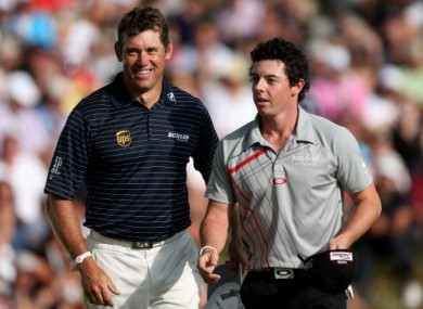 Old pals? Lee Westwood and Rory McIlroy.