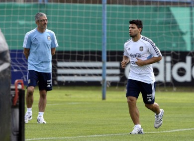 Aguero reported for duty with Argentina.