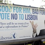 A Libertas billboard during the Lisbon campaigns.