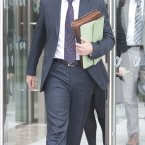 Solicitor Michael Finucane leaves the Special Criminal Court after the hearing at which three men including Vincent Ryan, brother of murdered Real IRA member Alan Ryan, were charged with membership of the Real IRA. Image: Eamonn Farrell/Photocall Ireland