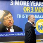 Libertas leader Declan Ganley urged the Irish public to vote No in the Lisbon Treaty Referendum to force Taoiseach Brian Cowen out and start economic recovery. Photo: Sasko Lazarov/Photocall Ireland!