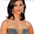 We love her as Damien Lewis' missus in Homeland. We loved her as Inara in Firefly and Serenity, but we are not really loving this dress.  It looks a bit like a cushion cover. 