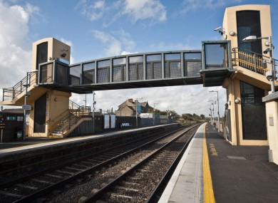 The crossing at Balbriggan train station, which had lifts installed in 2002.