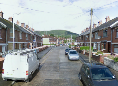 The shooting occurred at about 8pm at Beechmount Crescent in West Belfast.
