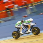 Catherine Walsh (IRL) on her way to winning the Women's Individual B Pursuit Silver Medal, Track Cycling (Sun 2 Sep) - Velodrome,Paralympics - Summer / London 2012, London, England 29 Aug - 9 Sept , © Sport the library/Greg Smith