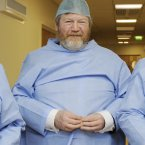 James Reilly is at home in scrubs. 