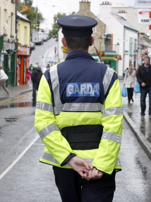 File photo of a Garda on patrol