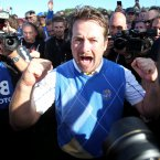 2010: Graeme McDowell celebrates Europe's win.
