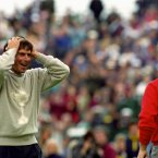 1993: USA's Fred Couples and Europe's Ian Woosnam finish all square at the Belfry.
