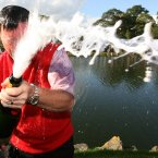 2006: European captain Ian Woosnam sprays champagne.
