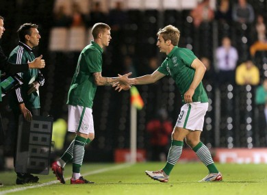 McClean comes on for Kevin Doyle last night.