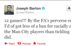 Barton slams FA over Terry punishment