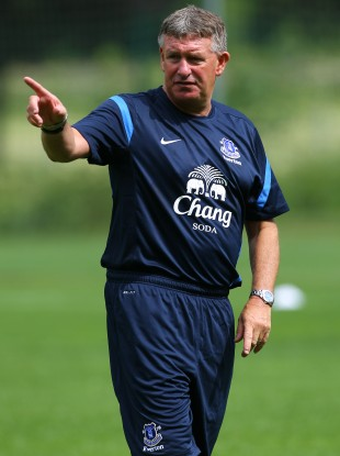 Sheedy coaching Everton's youth team. 