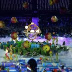General View of the Opening Ceremony for the London Paralympic Games 2012 at the Olympic Stadium, London.