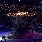 The Cauldron is lit by Margaret Maughan, Great Britain's first ever Paralympic gold medallist back in 1960 during the Opening Ceremony for the London Paralympic Games 2012 at the Olympic Stadium, London.