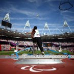 Algeria's Nassima Saifi throws in the Women's Shot Put F57/58 EMPICS Sport/EMPICS Sport.