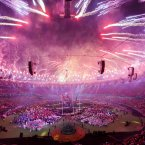 Fireworks are let off to signal the end of the Paralympic Games closing Ceremony at London's Olympic Stadium.