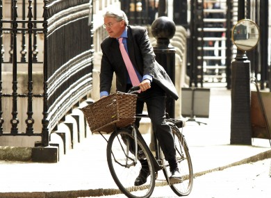 On his bike: Tory minister Andrew Mitchell (File photo)