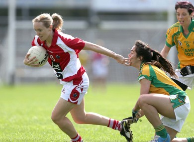 Nollaig Cleary with Tara Khan of Donegal.